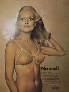Triumph bra advert from the 1970s