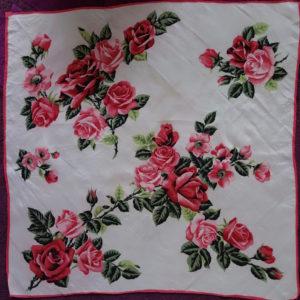 Lori's vintage rose print scarf