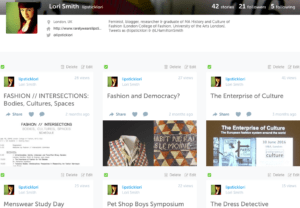 Lori's profile on Storify