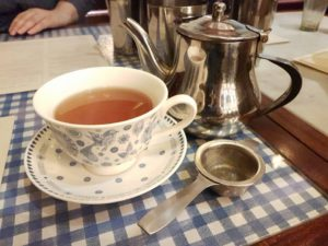 Lori's green Darjeeling at Dishoom