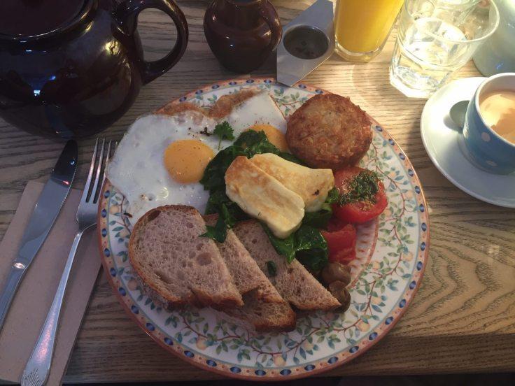Veggie breakfast at The Haberdashery