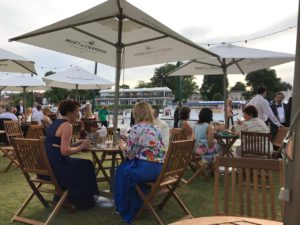 The champagne bar at Henley Festival