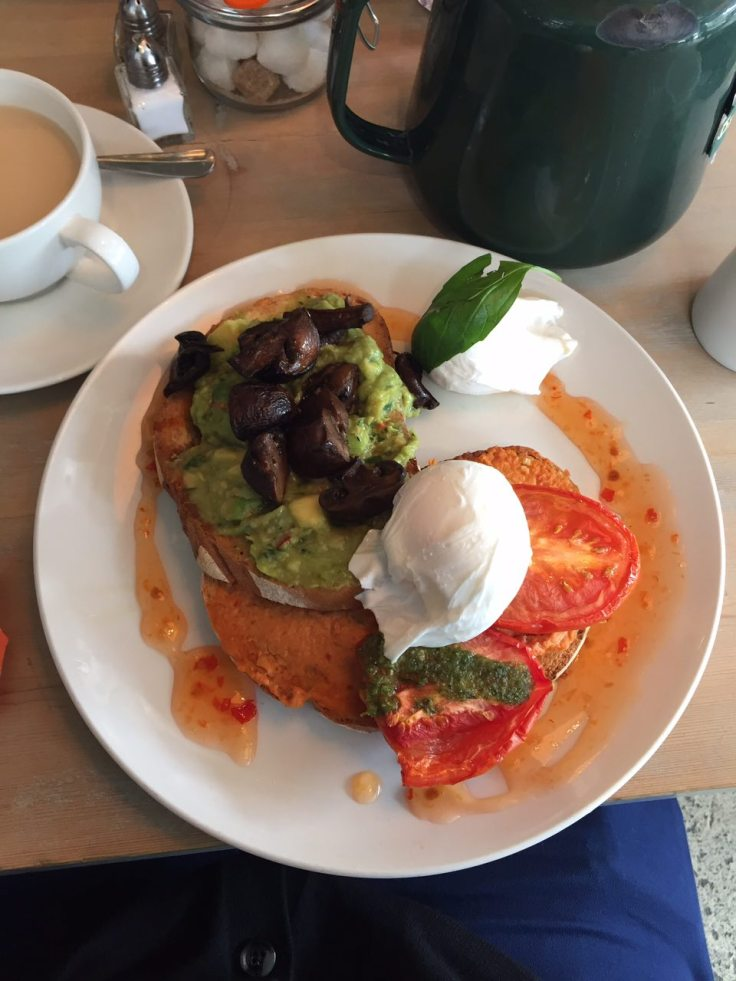 Ed's vegetarian breakfast at Bill's in Muswell Hill
