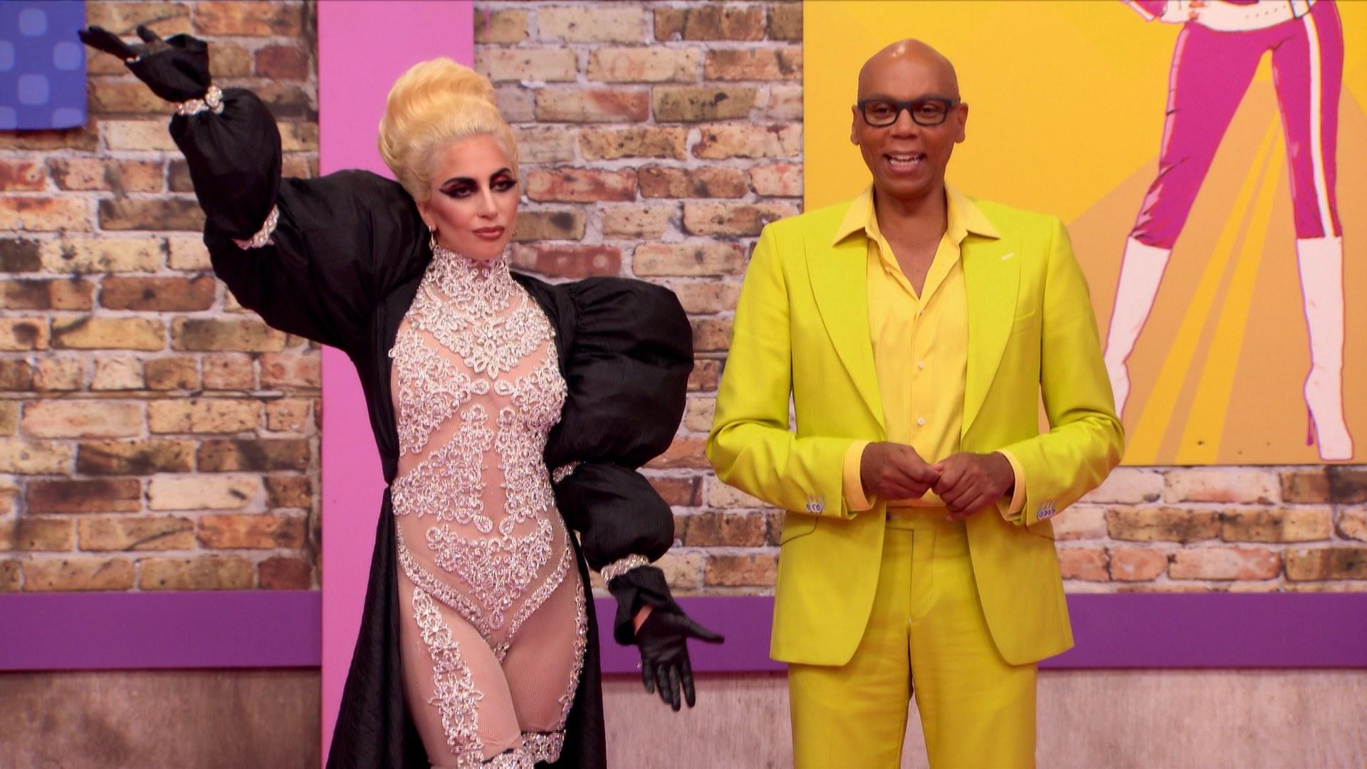 Lady Gaga in the premier of Drag Race season 9