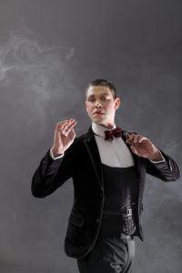 Will Young as the Emcee in Cabaret. Photo by Jim Marks.