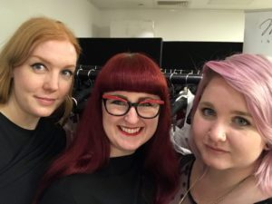 Lori with Zo� Greening and Becky Mount at Dessous London
