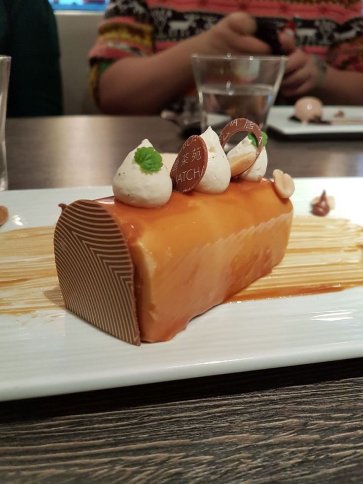 The Salted Caramel Delice that Eleanor and Lou shared at Yauatcha