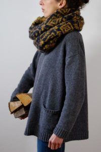 Bibico fair isle mohair snood