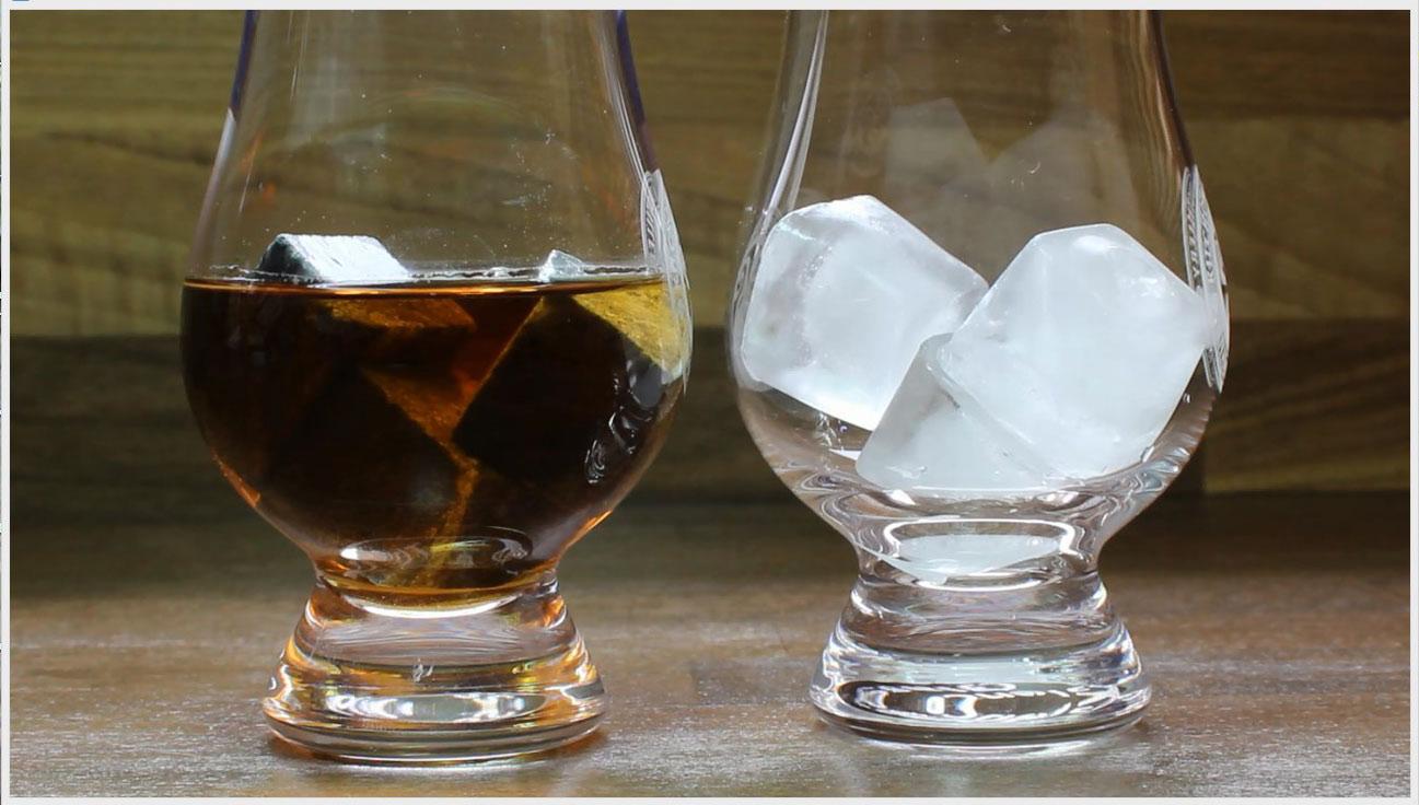 Test glaçons et pierres à whisky