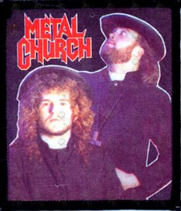METAL CHURCH - Embroidered 'Band Members' Design Logo Patch - 1
