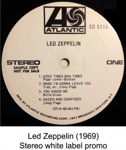 led zeppelin white label promo