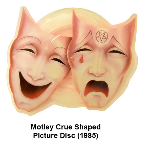 motley crue shaped picture disc
