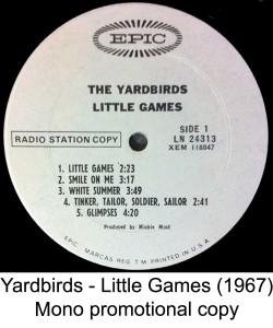 yardbirds mono white label promo