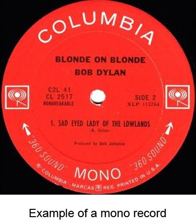 mono vinyl records