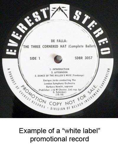 white label promo records