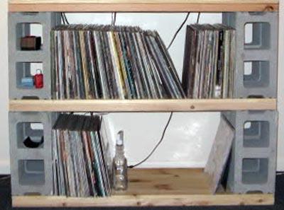 do it yourself vinyl record storage