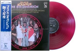 5th dimension - age of aquarius japan red vinyl lp