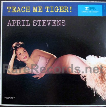 april stevens -teatch me tiger promotional lp