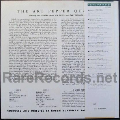 art pepper - the art pepper quartet japan lp