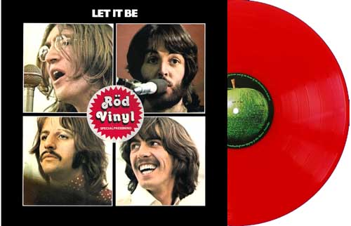 beatles let it be sweden red vinyl