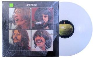 beatles -let it be uk white vinyl lp