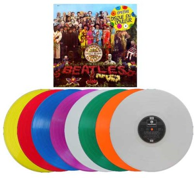 beatles sgt pepper colored vinyl france