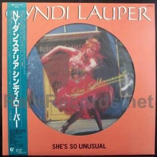 cyndi lauper - she's so unusual japan picture disc lp