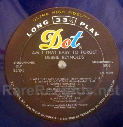 debbie reynolds - am I that easy to forget blue vinyl u.s. lp
