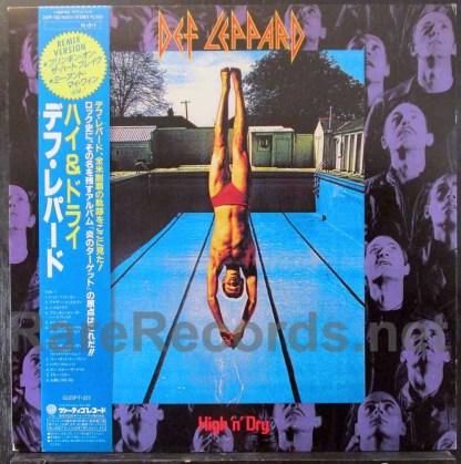 def leppard - high n dry japan lp