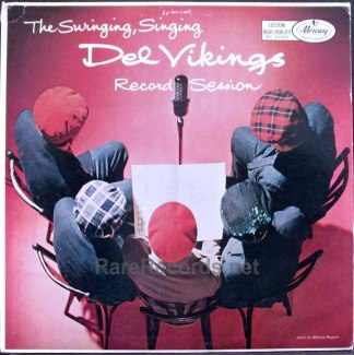 del vikings - singing, swinging recording session LP