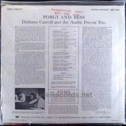 diahann carroll/andre previn - porgy and bess LP