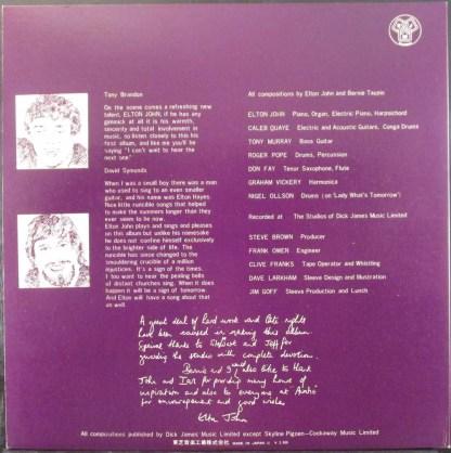 elton john - empty sky red vinyl japan promo lp