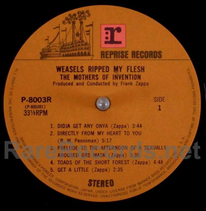 frank zappa - weasels ripped my flesh japan lp