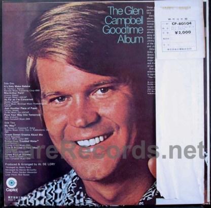 glen campbell - goodtime album japan red vinyl promo lp