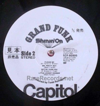 grand funk - shinin on japan promo lp