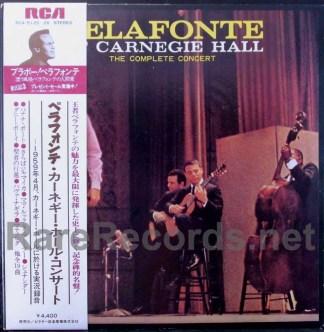 harry belafonte - belafonte at carnegie hall japan lp