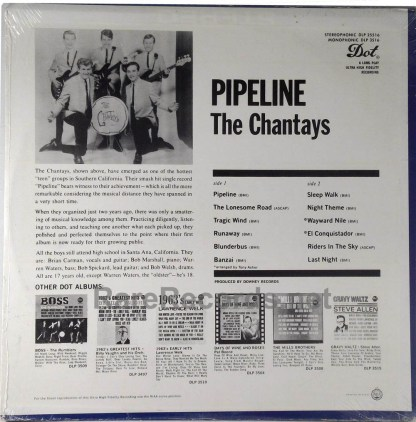 Chantays - Pipeline sealed 1963 Dot mono LP