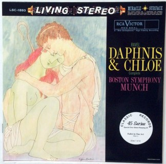 Daphnis & Chloe - Munch/Boston Symphony Classic Records 4 LP 45 RPM set