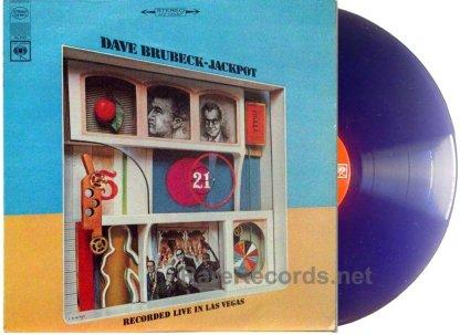 Dave Brubeck Quartet - Jackpot Ultra Rare Blue Vinyl stereo LP