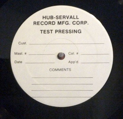 Robert Fripp - And the League of Crafty Guitarists Live original 1986 test pressing with cue sheet