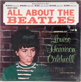 (Beatles) Louise Harrison Caldwell - All About the Beatles sealed 1964 LP