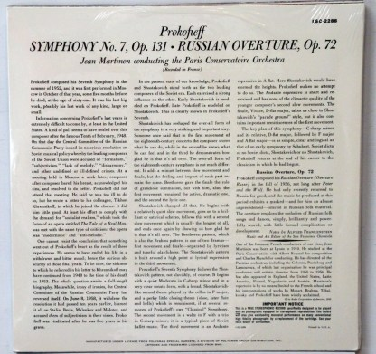 Prokofieff Symphony #7 sealed Classic Records 4 LP 45 RPM set