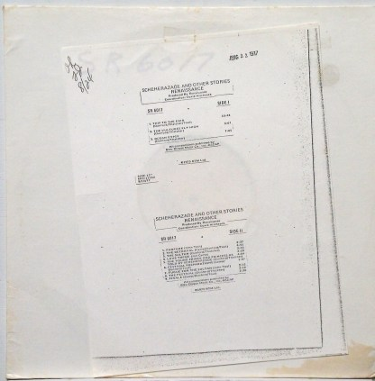 Renaissance - Novella original 1977 Sire/Warner test pressing LP