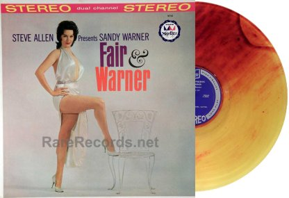 Sandy Warner - Fair and Warner rare 1961 colored vinyl stereo LP
