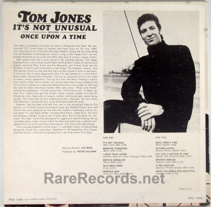 Tom Jones - It's Not Unusual 1965 stereo LP with withdrawn cover