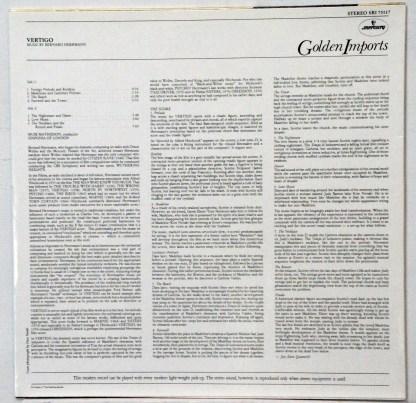 Bernard Herrmann - Music from Alfred Hitchcock's Vertigo Dutch LP