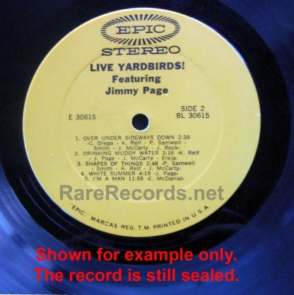 Yardbirds - Live Yardbirds Featuring Jimmy Page sealed withdrawn 1971 Epic LP