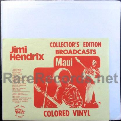 jimi hendrix - broadcasts/maui ruthless rhymes lp