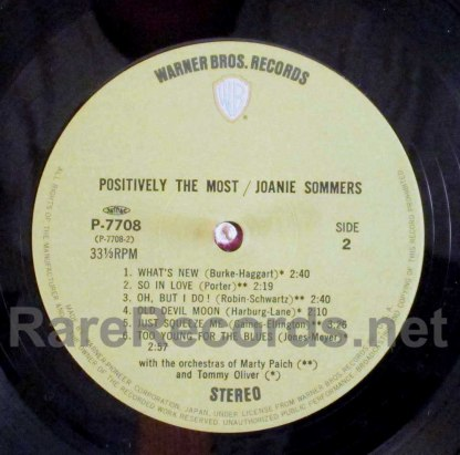 joanie sommers- positively the most japan LP
