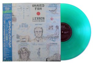 john lennon - shaved fish green vinyl japan lp